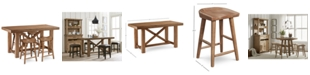 Furniture Brewing Collection, 5-Pc. Furniture Set (Gathering Table & 4 Hops Saddle Seat Gathering Stools)