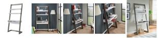 Furniture of America Lazlo Leaning Display Case