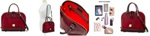 Dooney & Bourke Lizard-Embossed Leather Zip Zip Satchel, Created for Macy's