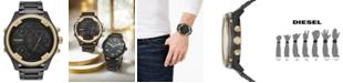 Diesel Men's Chronograph Boltdown Black Stainless Steel Bracelet Watch 56mm