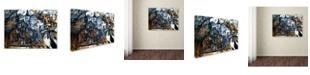 "Trademark Global Oxana Ziaka 'Indigo Fish' Canvas Art - 19"" x 14"" x 2"""