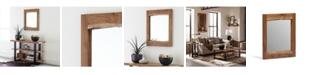 "Alaterre Furniture Alpine Natural Live Edge Wood 24"" Mirror"