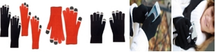 MinxNY 2 Pair Pack Touch Screen Glow In The Dark Tip Micro-Velvet Gloves