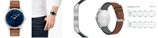 HUGO Men's #Dare Brown Leather Strap Watch 42mm