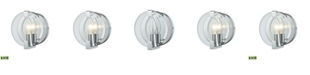ELK Lighting Clasped Glass 1 Vanity Polished Chrome