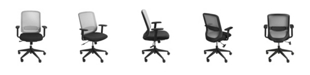 Euro Style Isaac Low Back Office Chair with Nylon Base
