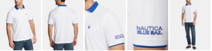 Nautica Nautica Men's Blue Sail Classic-Fit Moisture-Wicking Logo Polo, Created for Macy's