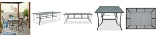 """Furniture Reyna Aluminum 84"""" X 42"""" Outdoor Dining Table, Created For Macy's"""