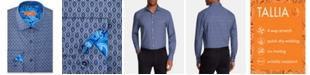 Tallia Men's Slim-Fit Non-Iron Performance Stretch Motif Dress Shirt