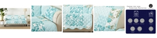 Great Bay Home Fashions Patchwork Scalloped Printed Reversible Sofa Furniture Protector