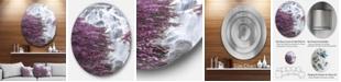 """Design Art Designart 'Klonglan Waterfall Floral' Abstract Metal Artwork - 23"""" x 23"""""""