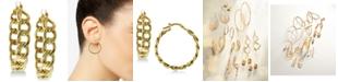 Macy's Chain Link Hoop Earrings in 14k Gold