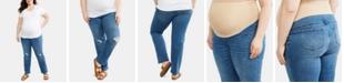 Indigo Blue Motherhood Maternity Plus Size Straight-Leg Jeans