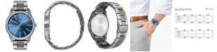 HUGO Men's #Rise Gray Stainless Steel Bracelet Watch 44mm