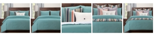 Revolution Plus Everlast Turquoise Stain Resistant 6 Piece Cal King High End Duvet Set