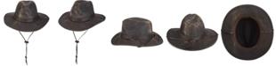 Dorfman Pacific Men's Weathered Big-Brim Safari Hat