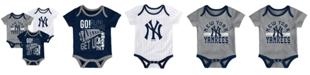 Outerstuff Baby New York Yankees Newest Rookie 3 Piece Bodysuit Set