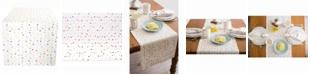 "Design Import Multi Polka Dots Print Table Runner 14"" X 108"""