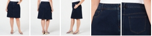 Charter Club Plus Size Denim Skirt, Created for Macy's
