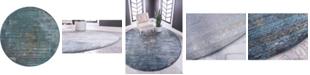 """Bridgeport Home Kenna Ken5 Dark Gray 8' 4"""" x 8' 4"""" Round Area Rug"""