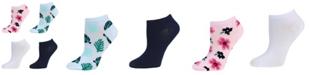 SOCK TALK Ladies' Low Cut Socks 4 PACK FLORAL