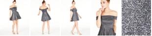 City Studios Juniors' Off-The-Shoulder Metallic Dress