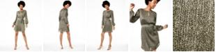 City Studios Juniors' Metallic Pleated Keyhole Dress