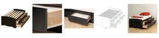 Prepac Tall Twin Captain's Platform Storage Bed with 6 Drawers
