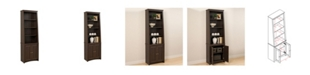 Prepac Tall Slant-Back Bookcase with 2 Shaker Doors
