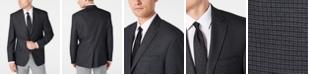 Lauren Ralph Lauren Men's Classic-Fit UltraFlex Stretch Gray/Blue Mini-Check Sport Coat