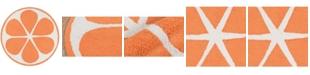 Novogratz Collection Novogratz Cucina Cna-1 Orange 3' x 3' Round Area Rug