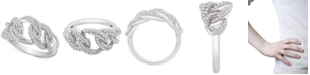 Macy's Diamond Interlocking Link Statement Ring (1/2 ct. t.w.) in Sterling Silver