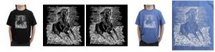 LA Pop Art Big Boy's Word Art T-Shirt - Popular Horse Breeds
