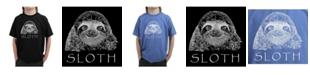 LA Pop Art Big Boy's Word Art T-Shirt - Sloth