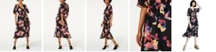 Trixxi Juniors' Faux-Wrap Midi Dress