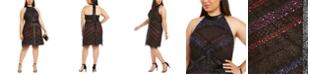 Adrianna Papell Plus Size Sequin Halter Dress