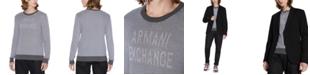 A X Armani Exchange Men's Textured Logo Sweater
