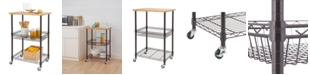 TRINITY Basics Bamboo Top Kitchen Cart