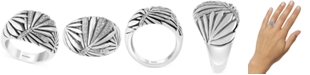 EFFY Collection EFFY® Diamond Leaf-Inspired Statement Ring (1/8 ct. t.w.) in Sterling Silver