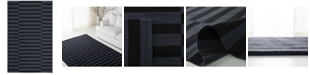 Lauren Ralph Lauren Ludlow Stripe LRL7350E Onyx 9' X 12' Area Rug