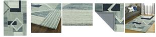 "Kaleen Alzada ALZ04-17 Blue 5' x 7'9"" Area Rug"