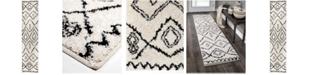 "Palmetto Living Casablanca Tribal 10 White 2'3"" x 8' Runner Rug"