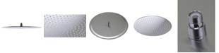 """ALFI brand Solid Brushed Stainless Steel 16"""" Round Ultra Thin Rain Shower Head"""