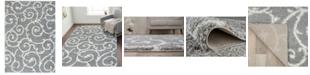 "Main Street Rugs Home Bahia Shag Bas2323 Gray 3'3"" x 5' Area Rug"
