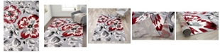 """Main Street Rugs Home Haven Hav9098 Red 3'1"""" x 5' Area Rug"""