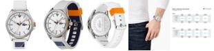 Lacoste Men's Cap Marino White Silicone Strap Watch 44mm