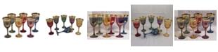 Lorren Home Trends Wine Goblets Multicolor- Set of 6