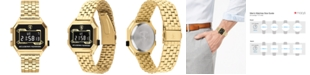 Ferrari Men's Digital Digidrive Gold-Tone Stainless Steel Bracelet Watch 34mm