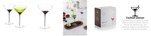 JoyJolt Black Swan Martini Glasses Set of 2