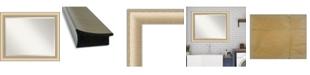 "Amanti Art Elegant Brushed Honey Framed Bathroom Vanity Wall Mirror, 32.75"" x 26.75"""